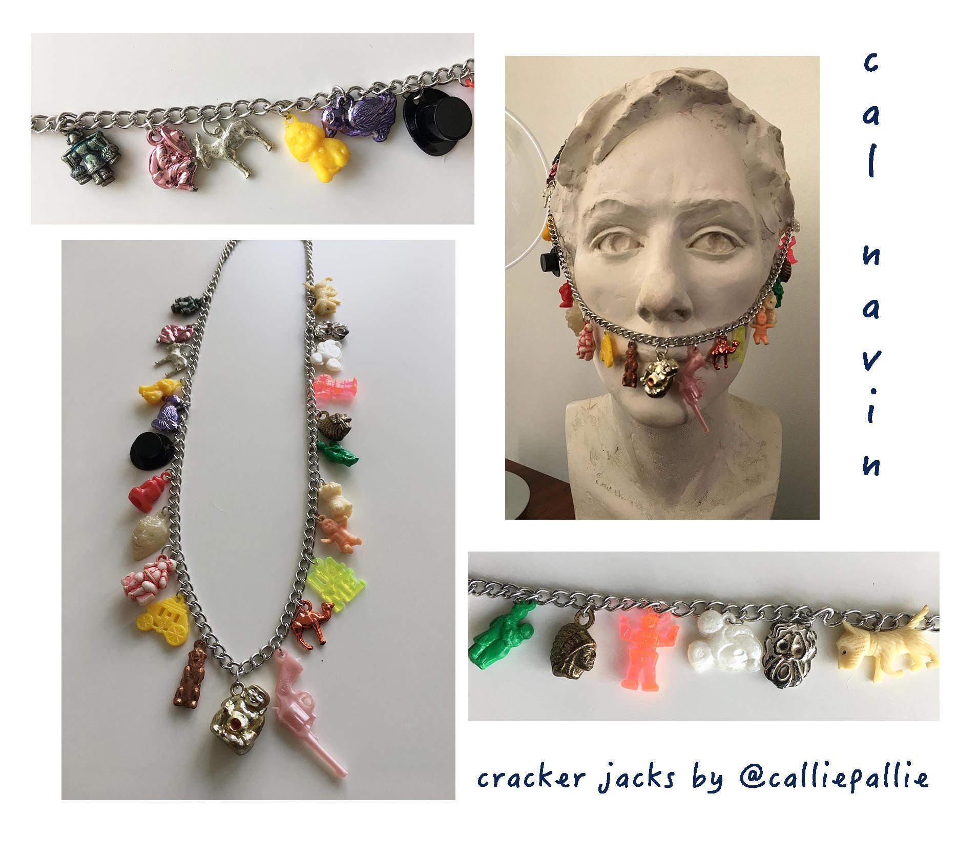 Cracker Jack Necklace Vintage Collectable Charms 1920\'s