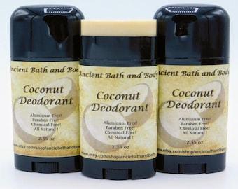 Coconut Scented Deodorant, Aluminum Free Deodorant, Natural Deodorant, Artisan Deodorant, Chemical Free Deodorant, Vegetarian Deodorant