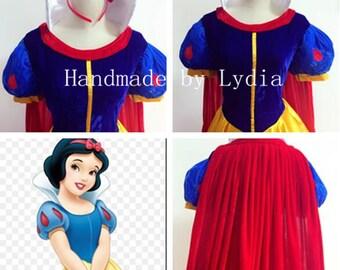 Handmade - Snow White Dress, Snow White Costume, Snow White Cosplay, Snow White Dress Cosplay Costume Adult/kid Available