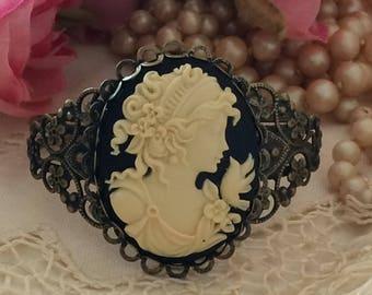 Cameo Bracelet, Victorian Cameo Bracelet, Cuff Bracelets, Cameo Cuff, Antique Gold, Vintage Reproduction, Victorian Lady Jewelry, Bracelet