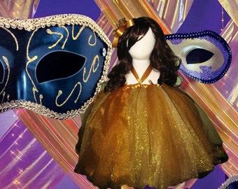 Glamorous Gold Girl Tutu Dress