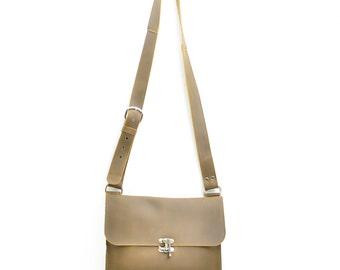 Leather Messenger Bag - Men's Leather Satchel - Distressed Leather Laptop Bag - Leather School Bag - Leather Book Bag