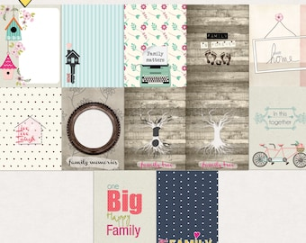 In this together Journal Cards - Instant Download - Printable journaling cards for Project Life and digital scrapbooking