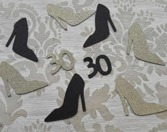 30th Birthday Thirty Gold Confetti Table Decorations Table Confetti Party Decorations Table Scatter Dirty Thirty Birthday Party