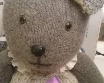 Celestite Teddy bear soft wool worsted