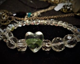 Vintage Glass Beads Repurposed Bracelet