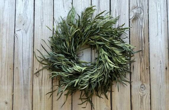 Wreath -  Dried Flower Wreath  -  Kiwi Eucalyptus Wreath