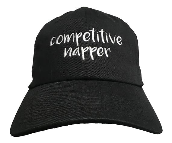 Competitive napper - Polo Style Ball Cap - Various colors with White Stitching