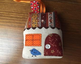 Little Cottage Calico Soft Fabric Ornament