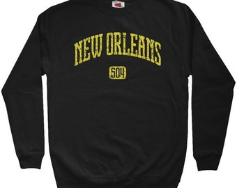 New Orleans 504 Sweatshirt - Men S M L XL 2x 3x - Crewneck New Orleans Shirt - 4 Colors
