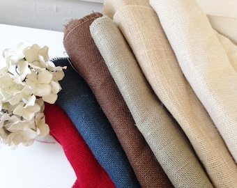 Fabric Scraps BUNDLE Pieces Bulk Craft Projects BURLAP white natural gray brown blue ASSORTED mix stash-We will fill a flat rate box for you