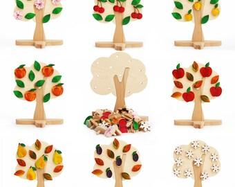 Four seasons learning wood tree