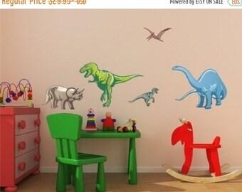 20% OFF Memorial Day Sale Dinosaur Set wall decals, stickers, murals, vinyl wall art