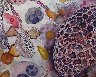 Pollen Grains. Original Mixed Media Painting