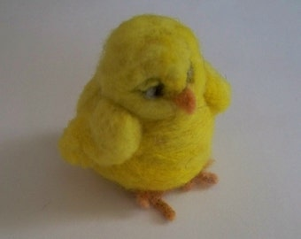 Spring Chick  needle felted