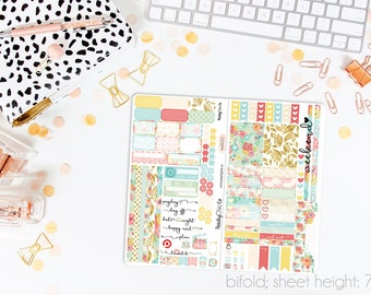 Blossom TN STANDARD Weekly Kit // 120+ Matte Planner Stickers // Perfect for your Standard Size Traveler's Notebook // TNS0020