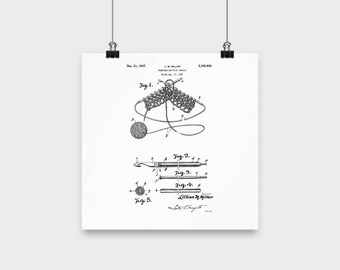 knitting room wall art, gifts for knitters, vintage knitting, knitter gifts, knitting patent, unique knitting gift, knitting poster,