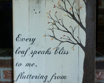 SALE...Large and rustic autumn sign, hand painted on reclaimed wood