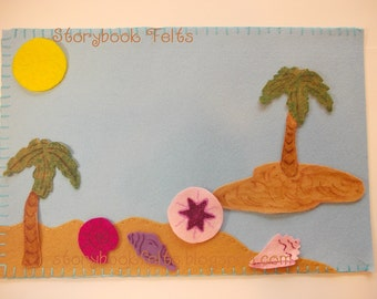 SHOP CLOSING SALE - Felt Island Beach Play Set Without Storyboard