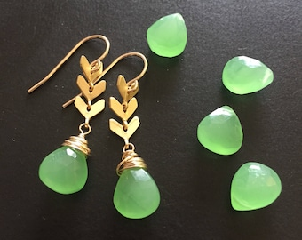 MADE by MAGGIE - Luxe Collection - GEMSTONE edition - Green Chalcedony drops