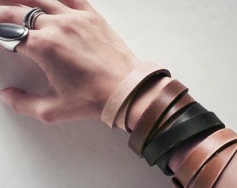 Wickelarmband aus Leder