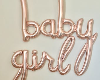 Baby girl Script Balloon~Its A Girl Baby Shower~Baby Shower Decorations~Baby Photo Prop~Gender Reveal Balloons~Gender Reveal Party~Baby Girl