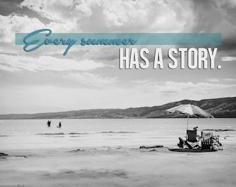Every Summer Has A Story -Bear Lake Utah postcard