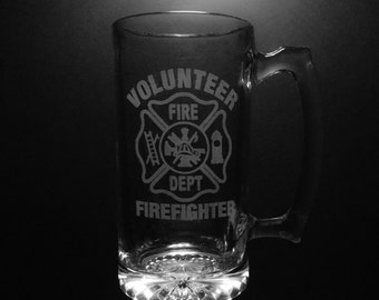 Volunteer Fire Department 25 Ounce Beer Mug.