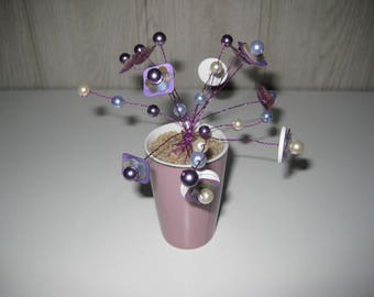 bouquet of flower buds and pearls