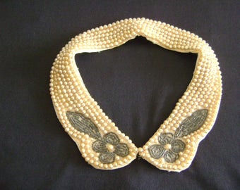 Truly Regal Art Craft Japan Beaded Collar Necklace 50's