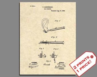 Tattoo Patent - Piercing Needle Patent Art - Tattoo Wall Art Patent Poster - Body Piercing Patent Prints - Vintage Wall Art Patent Print 202