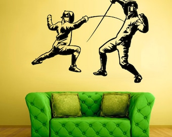 Fencing Wall Sticker Fencing Wall Decals Fencing Wall Decor Fencing Wall Art Swordplay wall decal Swordplay wall sticker (Z568)