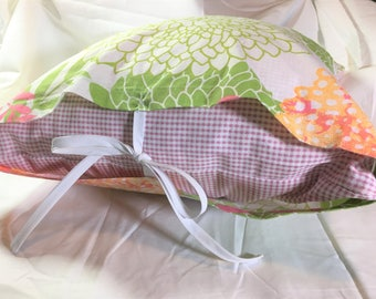 Pretty Pink Farmhouse Pillow with a Set of 2 Pillow Covers