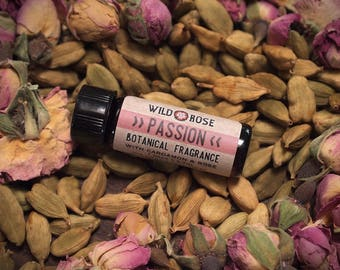 Natural Fragrance PASSION Botanical Perfume Oil Rose Cardamom 3.7ml // 1 Dram