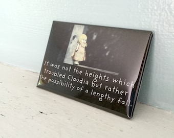 "China Doll Photography Adventures of Claudia Funny Magnet Photo ""Heights"""