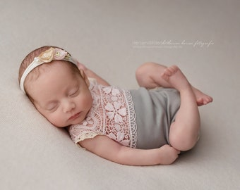 Newborn photograph protyre-born girls sharp romper baby photo Prop baby girl outfit baby girl