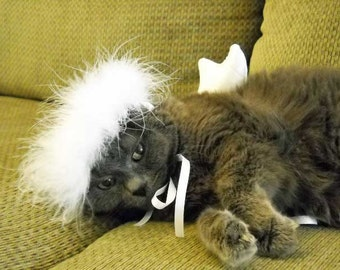 Pet Angel Costume Small Dog or Cat  Photo Prop Halloween or Christmas Costume Free Shipping