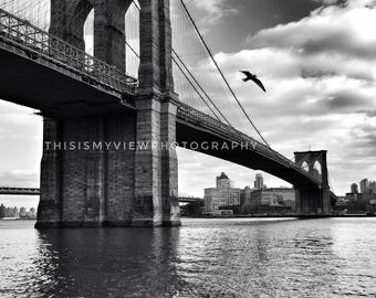 Brooklyn Bridge NYC, Original Photograph