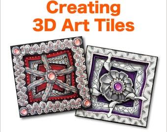3D Tangle Creating 3D Art Tiles - Download PDF Ebook Tutorial