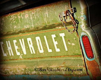 "Rustic Chevy Truck 2 - Rustic Wall Art - 8"" x 10"" Car Art Prints - Retro Print - Vintage Car Photography - Garage Art"