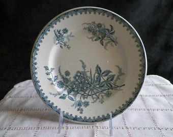 Amandinoise plate Margot pattern iron earth plate | Tableware Vintage Made in France 1920