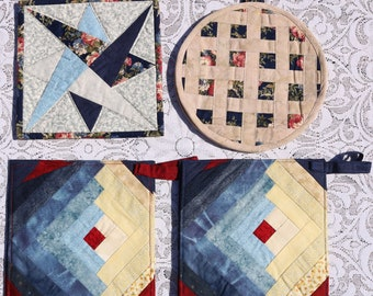 Pot Holders - Traditional Patchwork Designs