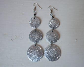 African Aluminium Earrings | Metal Earrings | Tribal jewelry  | Dangle Earrings | Metalsmith Jewelry | Elegant Earrings | Gift for Her