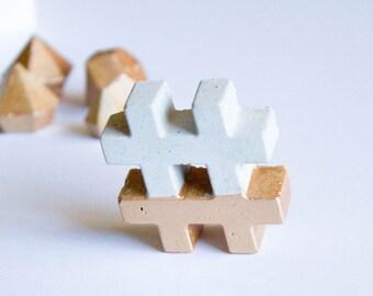 Concrete Hashtag | Gold, Rose Gold, Copper, Home Decor, Office Decor, Social Media, Stationary