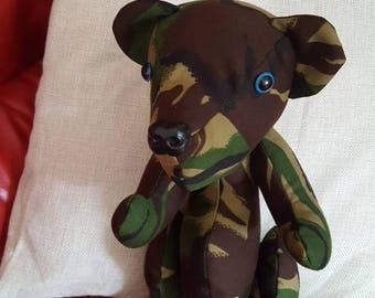 Military Camouflage Teddy Bear
