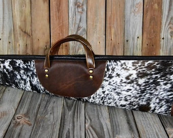 Hair On Hide Leather Shotgun Case HS-619