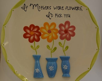 Mother's Handpainted Plate