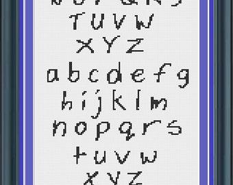 Cross Stitch Alphabet Pattern Chick Font
