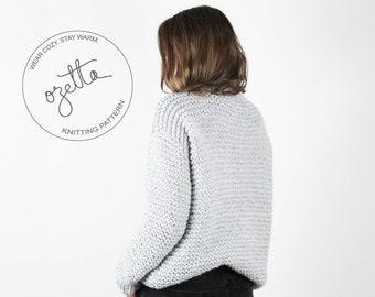 Knitting Pattern - Chunky Knit Sweater, Easy Knitting Pattern, Knit Sweater Pattern - The Favorite Sweater