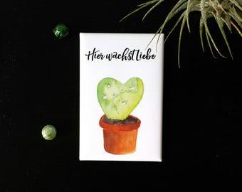 Kaktus Magnet, Kühlschrank Magnet, Kaktus Illustration, Kaktus Deko, Küchen Deko, Kaktus Spruch, Sukkulenten Motiv, Adventskalender, Kakteen